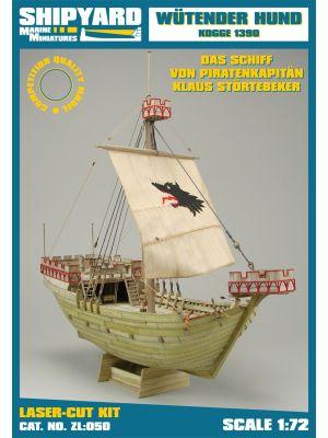 Wütender Hund - Kogge 1390 Lasercut-Modell