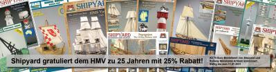 Shipyard gratuliert dem HMV zu 25 Jahren mit 25% Rabatt