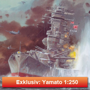 Exklusivmodell - Schlachtschiff Yamato 1:250
