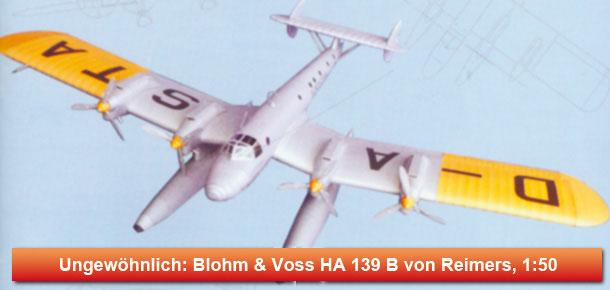 Deutsches Schwimmerflugzeug Blohm & Voss HA 139 B