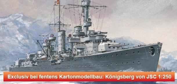 Exlusivmodell - Deutscher Leichter Kreuzer Königsberg 1:250