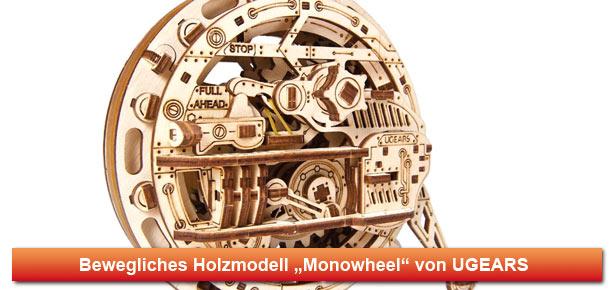 Mechanisches Holzmodell Monowheel