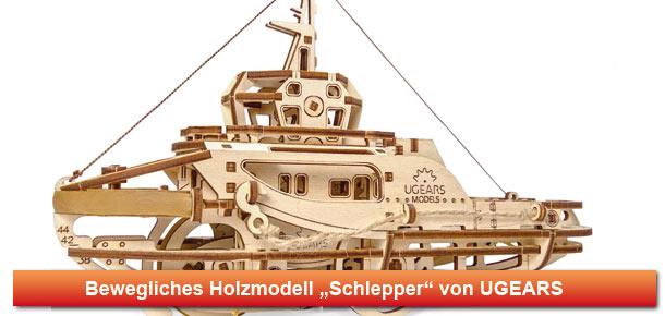 Mechanisches Holzmodell Schlepper